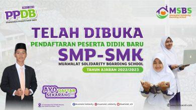 Photo of Kabar Gembira, MSBS Sudah Buka Pendaftaran Siswa Baru Tahun Ajaran 2022/23